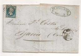LETTRE DE MARSEILLE A AJACCIO PC 1896  C994 - Marcophilie (Lettres)
