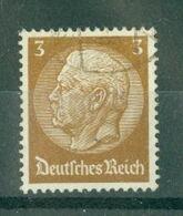 ALLEMAGNE (III Reich) - N° 484 Oblitéré - 85° Anniversaire Du Maréchal Hindenburg. - Allemagne
