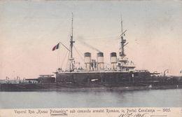 Vaporul Rus Kneaz Poteamkin In Portul Costanja 1905 - Guerra