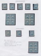 BELGIAN CONGO 1887 ISSUE 25C BLUE SELECTION MNH OR LH - 1884-1894 Precursors & Leopold II