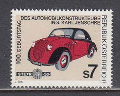 """Austria 1999 - Automobile Steyr 50 """"Baby""""(1936), Mi-Nr. 2282, MNH** - 1991-00 Neufs"""