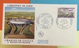 Aéroport De Paris Charles De Gaulle Roissy En France (Le Concorde) - Paris - 16.3.1974 - FDC 1er Jour - Coté 3€ Y&T - FDC