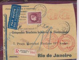 """BELGIUM """"GRAND MONTENEZ"""" FRONT OF REGISTERED COVER (SEULEMENT DEVANT DE LETTRE) BRUSSELS 18.09.34 TO RIO - 1929-1941 Grand Montenez"""