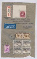 "BELGIUM ""GRAND MONTENEZ"" 100 F CORNER OF SHEET AIR REGISTERED COVER FROM 29.04.1939 TO RIO BRAZIL - 1929-1941 Grand Montenez"