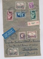 "BELGIUM ""GRAND MONTENEZ"" AIR REGISTERED COVER FROM 13.09.35 TO RIO BRAZIL - 1929-1941 Grand Montenez"