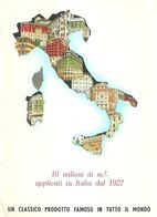 """8886"""" INTONACI TERRANOVA-MILANO """"(1950)-CARTONCINO ORIGINALE - Advertising"""