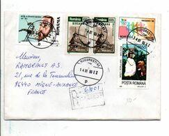 ROUMANIE AFFRANCHISSEMENT COMPOSE SUR LETTRE RECOMMANDEE POUR LA FRANCE 1999 - Covers & Documents