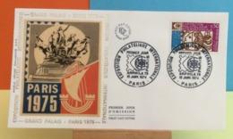 Grand Palais Paris 1975 - Paris - 19.1.1974 - FDC 1er Jour - Coté 2,20€ Y&T - FDC