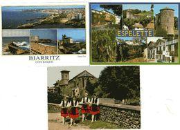 FRANCE 64 PYRENEES ATLANTIQUE 3 CP  ESPELETTE, BIARRITZ, ST JEAN PIED DE PORT Groupe Garaztarrak - Autres Communes