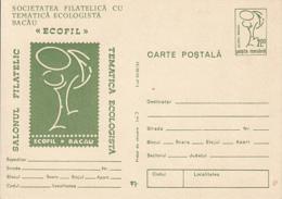 ENVIRONMENT PROTECTION,ECOLOGY PHILATELIC EXHIBITION, PC STATIONERY, ENTIER POSTAL, 1991, ROMANIA - Protección Del Medio Ambiente Y Del Clima