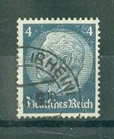 ALLEMAGNE (III Reich) - N° 485 Oblitéré - 85° Anniversaire Du Maréchal Hindenburg. - Allemagne