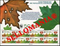 2020 WWF PROTECCION NATURALEZA NATURE PROTECTION PLIEGO PREMIUM ** MNH   TC23693 - 1931-Oggi: 2. Rep. - ... Juan Carlos I