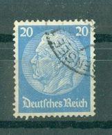 ALLEMAGNE (III Reich) - N° 492 Oblitéré - 85° Anniversaire Du Maréchal Hindenburg. - Allemagne