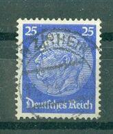 ALLEMAGNE (III Reich) - N° 493 Oblitéré - 85° Anniversaire Du Maréchal Hindenburg. - Allemagne