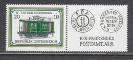 Austria 2001 - Tag Der Briefmarke: Bahnpostwagon, Mi-Nr. 2345Zf, MNH** - 2001-10 Unused Stamps