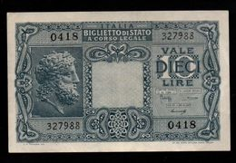 Italie - 10 Lire - 1944 (verso Voir Scan) - Italia – 10 Lire