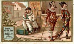 CHROMO EN RELIEF CHOCOLAT POULAIN L'ORGUEIL - Poulain