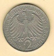 Moneda, Coin  ALEMANIA 1960, 2 Marcos. MAX PLANCK.  Niquel - [ 7] 1949-… : FRG - Fed. Rep. Germany
