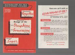 Catalogue ROUGE ET OR, ROUGE ET BLEU  1958 Etc + 2 Documents (M0610) - Advertising