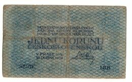 Czechoslovakia 1 Korun 1919 - Cecoslovacchia