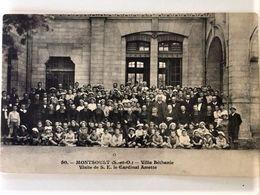 Oude Postkaart Dd 1916 Postkaart Les Enfants De L'Yser Jongensschool Kolonie Villa Bethanie -bezoek Van Kardinaal Amette - Montsoult