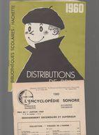 Catalogue HACHETTE Distribution Des Prix 1960 + 2 Docs  (M0611) - Advertising