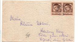TCHECOSLOVAQUIE AFFRANCHISSEMENT COMPOSE SUR LETTRE INTERIEURE 1952 - Brieven En Documenten