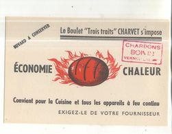 Buvard Le Boulet Trois Traits Charvet (cachet Charbons Boivin à Verneuil (Eure)) - Idrocarburi