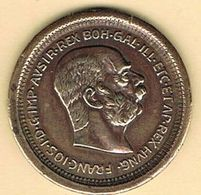 Moneda, Coin AUSTRIA, Imperio Astrohungaro 100 Kr. Kaiser, Reproduccion SIMILOR (zinc Y Cobre) - Austria