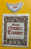 15567 - Malanser Gewürztraminer 1986 Adolf Doner - Other