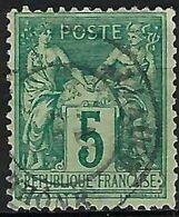 FRANCE Sage Type II: Le Y&T 75, Obl. CAD - 1876-1898 Sage (Tipo II)