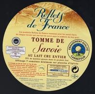 Etiquette Fromage Tomme De Savoie  Reflets De France Carrefour   FR74003060CE Société Schmidhauser ALEX 74 - Fromage