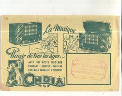 Buvard Ondia, La Musique, Plaisir De Tous Les Ages (Cachet Maison Bellemere à Verneuil (Eure) - O
