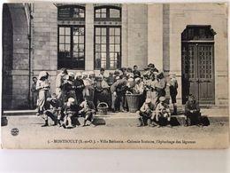 Oude Postkaart Dd 1916-17 Postkaart Les Enfants De L'Yser Jongensschool Kolonie Villa Bethanie Colonie Scolaire - Montsoult