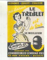 Buvard Boulet Le Treblet, Combustibles Lemoine Fils, 63 Rue Thiers, Rouen - Idrocarburi