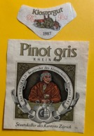 15572 - Pinot Gris Rheinau 1987 Klostergut Staatskeller Des Kantons Zürich - Other