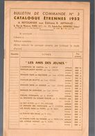 Catalogue étrennes 1952 éditions ARTHAUD (M0616) - Advertising