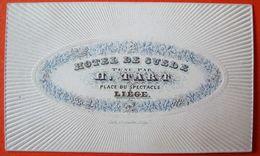 Liège . Carte Porcelaine. Hôtel De Suède. H. Tart - Luik