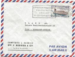 242 - 98 - Enveloppe Envoyée De Tananarive En Suisse - Madagascar (1960-...)