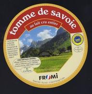 Etiquette Fromage Tomme De Savoie  FR74280050CE Coopérative Des Producteurs De Reblochons Fermiers De La Vallée De Thône - Fromage