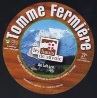 Etiquette Fromage Tomme Fermiere Les Hauts De Savoie FR74195050CE Société Laitière Des Hauts De Savoie FRANGY - Fromage
