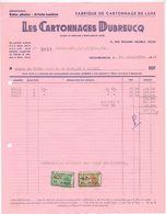 Factuur Facture - Cartonnages Dubreucq - Uccle Bruxelles  - 1955 - Imprimerie & Papeterie