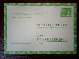 Allemagne RFA Funklotterie Loterie Entier Postal HAMBOURG Hambug - Spelletjes