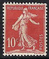 FRANCE 1906: Le 134 Neuf* - 1906-38 Semeuse Camée