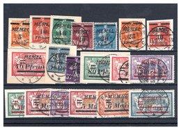 MEMEL, Michel No.: 52-71 Used, Cat. Value: 150€ - Memelgebiet