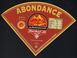 Etiquette Fromage Triangle Abondance   La Pointe Percée  Pochat Et Fils Depuis 1919 Savoie - Fromage