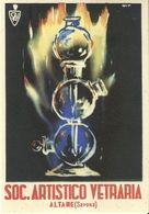 "8911""SOCIETA' ARTISTICO VETRARIA DI ALTARE""-CARTONCINO ORIGINALE - Advertising"