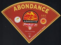 Etiquette Fromage Triangle Abondance   La Pointe Percée  Pochat Et Fils Depuis 1919 Savoie Médaille D'or Paris 2019 - Fromage