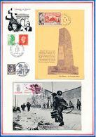 FRANCE - CARTE CAP NEGRE LE CANADEL OBLI 14.8.54 +  CARTE OBLI ANNIV DEBARQUEMENT OUISTREHAM 6.6.84 - WW2 (II Guerra Mundial)