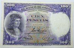 Billete 1931. 100 Pesetas. República Española. España. Gran Capitán. Gonzalo Fernández De Córdoba. Sin Serie. MBC - 100 Pesetas